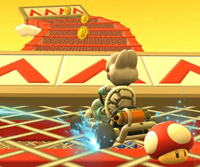 The icon of the Monty Mole Cup challenge from the Snow Tour in Mario Kart Tour