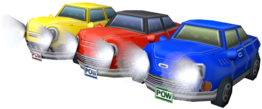 Model of the cars from Mario Kart Wii.