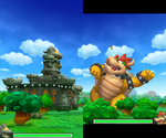 Screenshot of Giant Bowser's Punch Attack in Mario & Luigi: Bowser's Inside Story + Bowser Jr.'s Journey