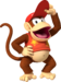 Artwork of Diddy Kong from Mario Party DS (also used in Mario Kart Wii, Mario Kart Tour, and Mario & Sonic at the Olympic Games Tokyo 2020)