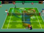 Super Mario court in the game Mario Tennis (Nintendo 64).