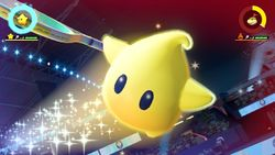 Luma performing his Special Shot, the Constellation Smash