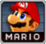 Mario's Character select portrait in Super Smash Bros. Melee