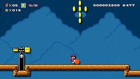 The Super Mario Maker 2 Story Mode level Launching Bob-ombs, Collecting Co-coins.