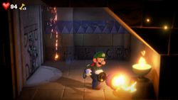 The Secret Passageway, a room in the Tomb Suites in Luigi's Mansion 3.