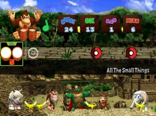 """The """"Jam Session"""" mode of Donkey Konga"""