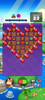 Stage 625 from Dr. Mario World