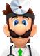 Sprite of Dr. Luigi from Dr. Mario World