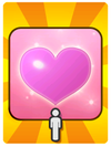A Venture Card from Fortune Street indicating a free heart suit
