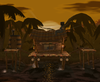 A view of Jungle Japes in Super Smash Bros. Melee.