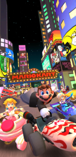 The 1st Anniversary Tour from Mario Kart Tour.
