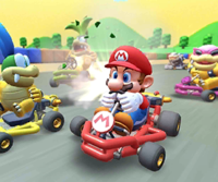 The icon of the Diddy Kong Cup challenge from the Wild West Tour in Mario Kart Tour.