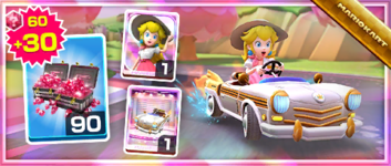 The Platinum Taxi Pack from the Wedding Tour in Mario Kart Tour