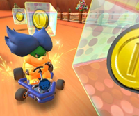 The icon of the Mario Cup challenge from the Holiday Tour and the King Boo Cup challenge from the New Year's 2021 Tour in Mario Kart Tour
