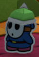 A Blue Spike Guy from Paper Mario: Color Splash.