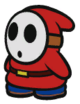 A Shy Guy in Paper Mario: Color Splash.