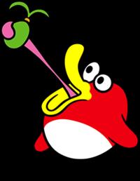 Pyoro, eating fruit