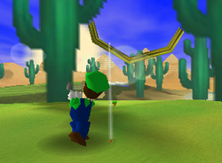 Cactus Arms, a Ring Shot challenge in Shy Guy Desert from Mario Golf