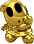 Artwork of Shy Guy (Gold) from Mario Kart Tour