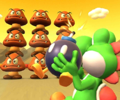 The icon of the Lemmy Cup challenge from the Flower Tour and the King Boo Cup challenge from the Berlin Tour in Mario Kart Tour.