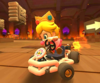 The icon of the Baby Peach Cup challenge from the Ice Tour and the Baby Mario Cup challenge from the Mario Tour in Mario Kart Tour