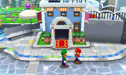 Screenshot of Wakeport, from Mario & Luigi: Dream Team