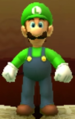 Luigi as viewed in the Character Museum from Mario Party: Star Rush