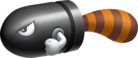 Artwork of a Tail Bullet Bill, from Super Mario 3D Land
