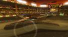 View of Waluigi Stadium in Mario Kart Wii