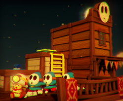 The illustration of Pop-Up Prairie Town in Captain Toad: Treasure Tracker.