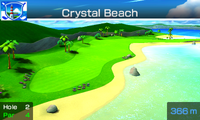 Hole 2 of Crystal Beach from Mario Sports Superstars