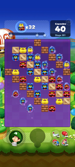 Stage 261 from Dr. Mario World