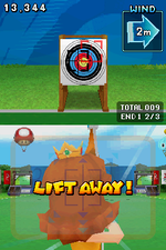 Archery in Mario & Sonic at the Olympic Games for Nintendo DS
