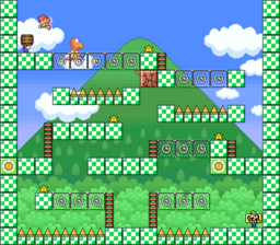Level 3-6 map in the game Mario & Wario.