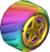 The Rainbow_Rainbow tires from Mario Kart Tour