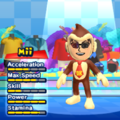 Donkey Kong Mii Costume in the game Mario & Sonic at the London 2012 Olympic Games for the Wii.
