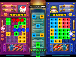 Toad wins in Piece Out from Mario Party 5