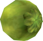 Rendered model of a Coconut in Super Mario Galaxy.