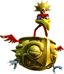 Artwork of Stu from Donkey Kong Country Returns