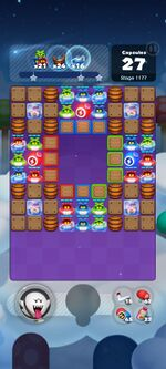 Stage 1177 from Dr. Mario World