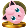 The alternate trophy of Jigglypuff from Super Smash Bros. for Wii U