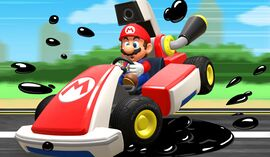 Slick Circuit course icon from Mario Kart Live: Home Circuit