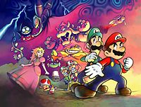 Mario & Luigi: Superstar Saga promotional artwork: Scene