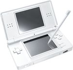 A Polar White Nintendo DS Lite model