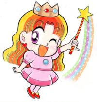 Princess Peach artwork for Otenba Peach-hime, 1993