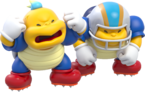 Artwork of two Chargin' Chucks from Super Mario 3D World.