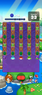 Stage 607 from Dr. Mario World