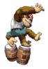 A sticker of Funky Kong