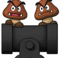 Goombas and Bullet Bills Cut-in PD-SMBE.png