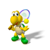 Artwork of Koopa Troopa from Mario Power Tennis.